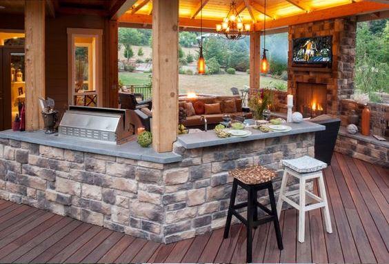 Outdoor Brick Kitchen Designs | Patio Kitchen Ideas