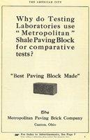 Metropolitan Shaving Brick Vintage Ad