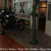 Antique Brick Street Pavers at the Music Man Pavillion in Mason City, IA