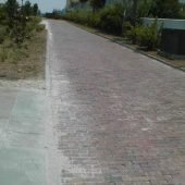 Antique Brick Street Pavers in the Government Welcome Center in Charleston, SC