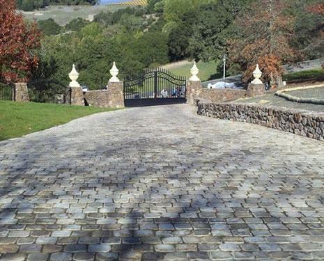 Old Charlottesville Bluestone Cobblestone
