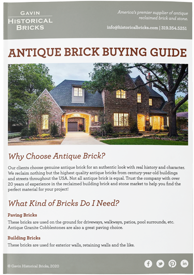Antique Brick Buying Guide Cover